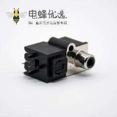 光纤接收头发射单RCA+自动门光纤插座弯式插孔面板