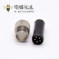 传感器m8连接器5芯直注塑公头焊杯不带屏蔽B编码
