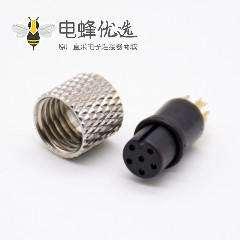 m8注塑成型航空6芯直注塑母头焊杯不带屏蔽A编码