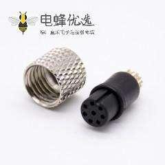 m8航空8芯注塑母头直式焊杯不带屏蔽A编码