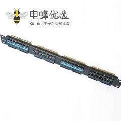 六类配线架19英寸24端口110双IDC不带屏蔽配线架