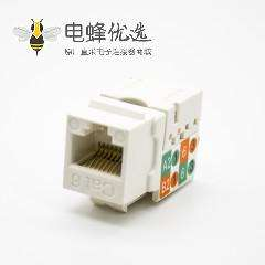 RJ45网络接口模块非屏蔽弯式90°CAT6单端口8P8C