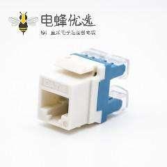 RJ45插座六类线材梯形插孔双IDC类型直式不带屏蔽网络模块