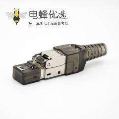 RJ45信息模块插头免工具直式带屏蔽用于cat5e cat6 cat6a cat7