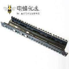 配线架24口STP梯形插孔不带屏蔽19空白接线板