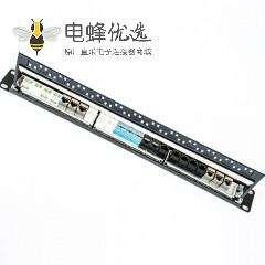 110配线架24端口不带屏蔽用于超五类六类线材19英寸双IDC带后挡板