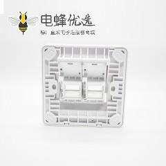 86双口信息面板CAT6双端口螺丝固定AP样式