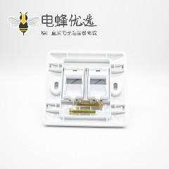 86信息面板两孔86mm网络模块塑料白色信息面板