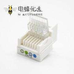 RJ11电话模块4芯CAT3非屏蔽90度梯形千斤顶免工具RJ11连接器