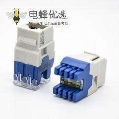 直式RJ45插座用于六类线材非屏蔽8芯180度单端口网络模块