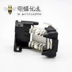 RJ45网口插座8芯六类线材直式不带屏蔽网络模块化连接器