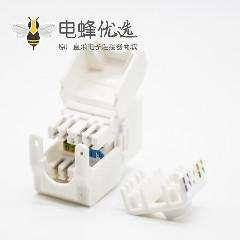 RJ45信息插座不带屏蔽8P8C直式面板安装CAT6A网络接口模块