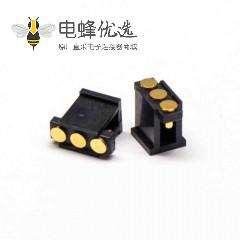 弹簧针连接器R型侧放式3芯间距2.5MM单排Pogo Pin连接器