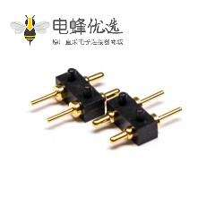 Pogo Pin探针式连接器2芯插入焊接式3.5MM单排多Pin系列P型