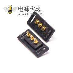 多芯插针连接器镀金黄铜3芯单排插入焊接式2.5MM间距Pogo Pin连接器