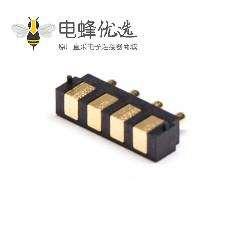 弹簧针焊接多Pin系列F型4芯2.5MM平放焊接式Pogo Pin连接器