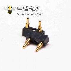 电池连接器 Pogopin焊接式2芯5MM间距多Pin系列F型