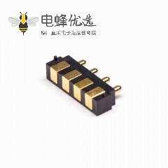 Pogo Pin连接器焊接4芯间距2.5MM多Pin系列F型平放式