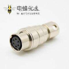 广濑HRS6芯浮动母插座对接式直式焊杯HR10系列微型推拉自锁连接器