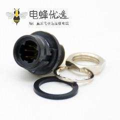 广濑HRS原装接头6芯插座直式焊杯后锁板安装