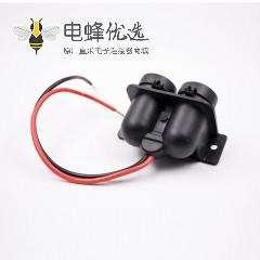 充电点烟器母头双孔点烟器插座接线带防尘盖