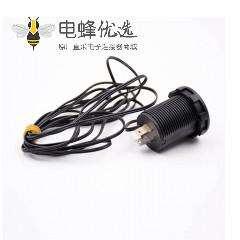 多功能数显表接线温度电压数字显示2引脚插座
