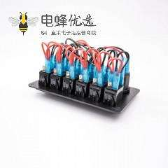 汽车点烟器插座电压电流表双USB接口6位开关总成用于房车巴士游艇