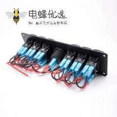 多功能面板DIY接线6位开关带彩屏电压表汽车组合面板