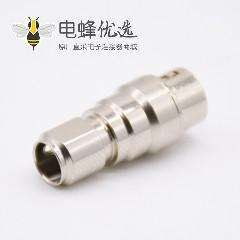 HR10圆形连接器4芯孔型母插头和浮动针型公插座一对直式焊线
