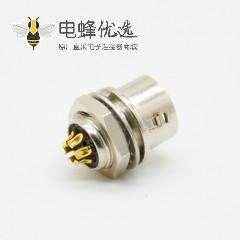 6芯公插座焊线直式后锁板HR10系列微型推拉自锁连接器