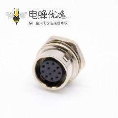 圆形HR10连接器插头12芯孔母插座PCB焊板直式后锁板HR10系列微型推拉自锁连接器