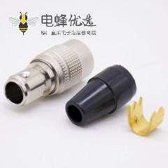 HRS广濑连接器原装6芯母插头直式焊杯