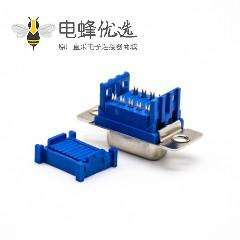 9针D Sub接口标准型母头直式接PCB板蓝胶刺破式连接器