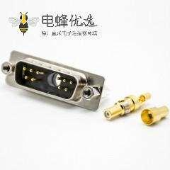 D Sub大电流连接器同轴1W10公头直式焊接式