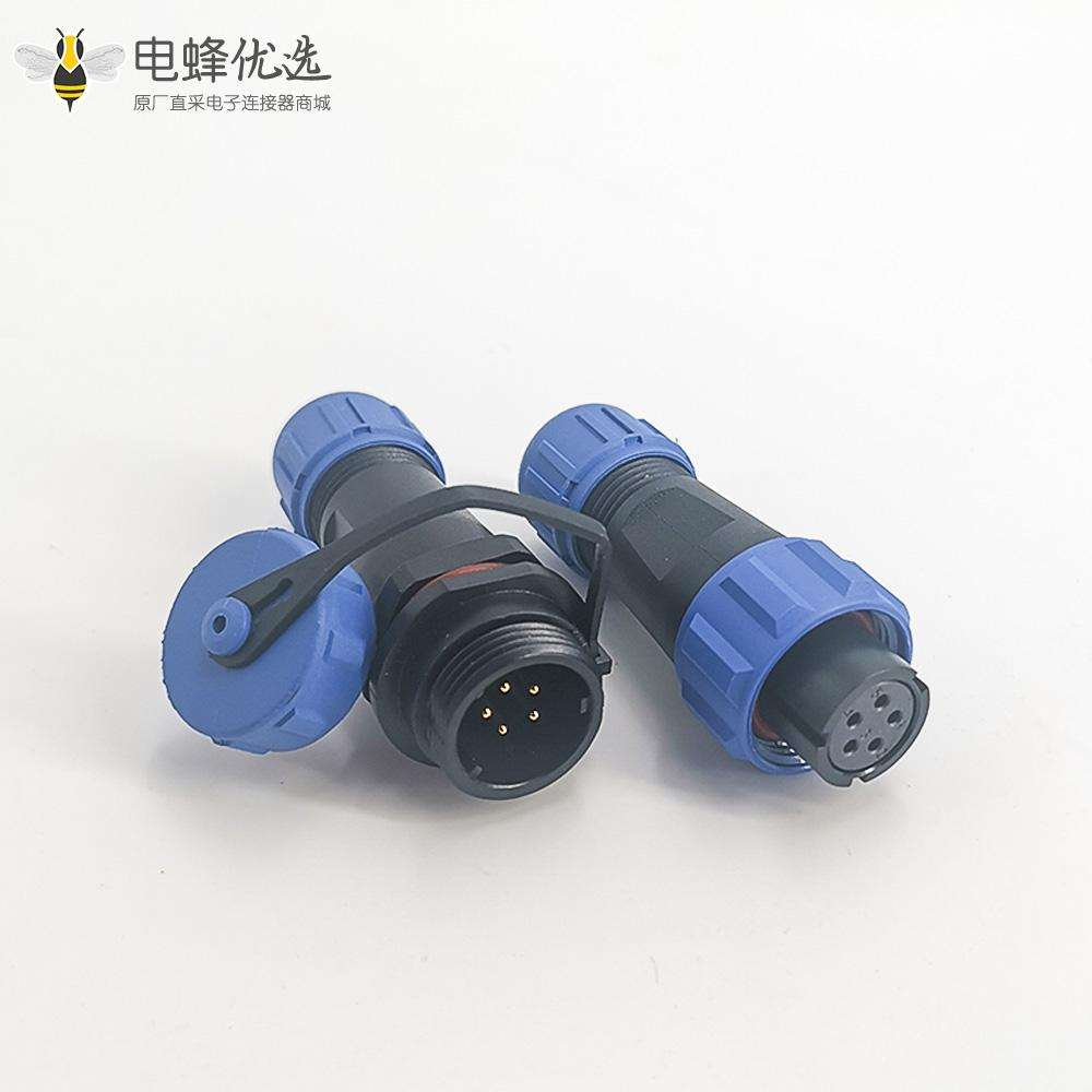 连接器SP系列防水连接器SP13IP68对接式母插头+公对接插座5芯电缆对接款