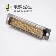DB50连接器直式焊杯接线式车针型3排D Sub接口