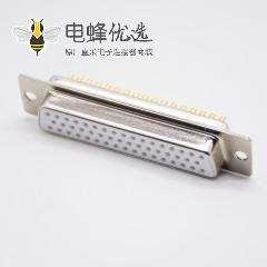 D Sub接口3排50针母头白色胶芯直式车针型连接器