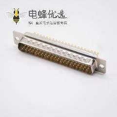 D-sub连接器公头180度焊杯式62针车针型3排DB头