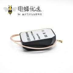 GPS天线黑色鼠标型接RG178线打端子外置WiFi天线