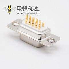 D Sub15针接线焊杯白色胶芯3排车针型直式母头
