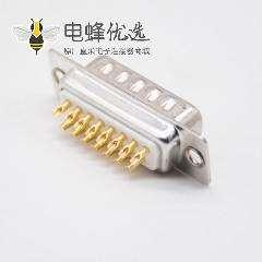 公头DB连接器15芯车针型2排直式焊杯D-sub接口
