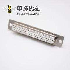 DB头连接器62芯车针型母头白色胶芯焊杯直式D Sub接头