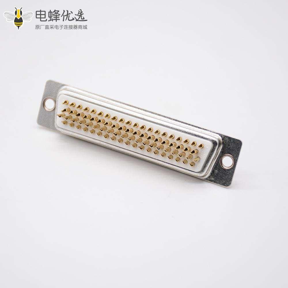 D Sub接线焊杯式直式母头白色胶芯4排冲针78芯DB连接器