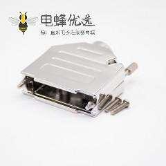 锌合金DB头外壳用于D Sub25芯金属防尘盖