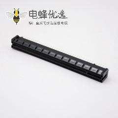 Pcie卡槽连接器164芯16X插板式导柱型记忆卡槽