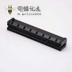 夹板式PCIE连接器98芯8X沉板式记忆卡槽连接器