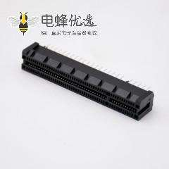 PCIE扁平连接器98芯导柱式插槽8X接PCB板