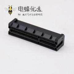 PCIE接口网络连接器PCI-E64P 4x夹板式插槽