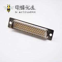 D Sub焊线式连接器180度公头冲针3排50芯DB接口