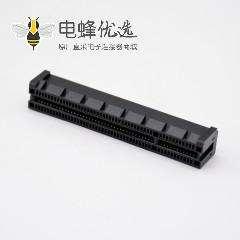 连接器PCIE 8X夹板式卡槽98芯沉板式记忆卡连接器